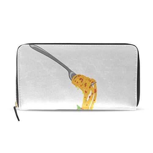 Köstliche Nudeln Lebensmittel Lange Passport Clutch Geldbörsen Reißverschluss Brieftasche Fall Handtasche Geld Organizer Tasche Kreditkarteninhaber Für Dame Frauen Mädchen Männer Reisegeschenk