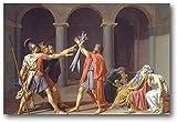 GYJDD Laminas para Cuadros Poster de Pintor francés de Jacques-Louis David póster artístico de Pared impresión en Lienzo Obras de Arte Poster de Decoracion moderna60x90cm x1 Sin Marco