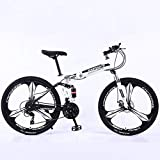 Bicicleta de montaña Mountainbike Bicicleta Suspensión plegable 26' MTB Barranco bicicletas de montaña de doble disco de freno de la bicicleta completa 21 24 27 Velocidades del marco de acero al carbo