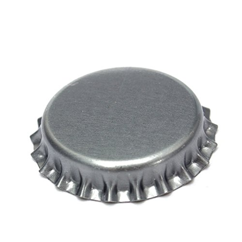 Wrewing Silver Beer Bottle Caps Pack of 200 Counts (Silver)