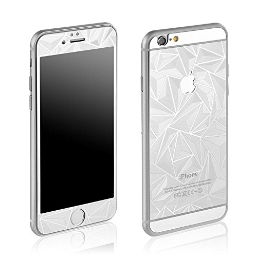 Cristal templado 3D Touch Protector iPhone 6/6S (10.16 cm) vidrio diamond plata...