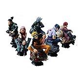 LULUDP Modelo de animación Modelo de Personaje de Anime Estatua de Naruto Modelo Colección de muñecas/Regalo de cumpleaños - Juguetes de PVC para Adultos Modelo Infantil (6PCS)