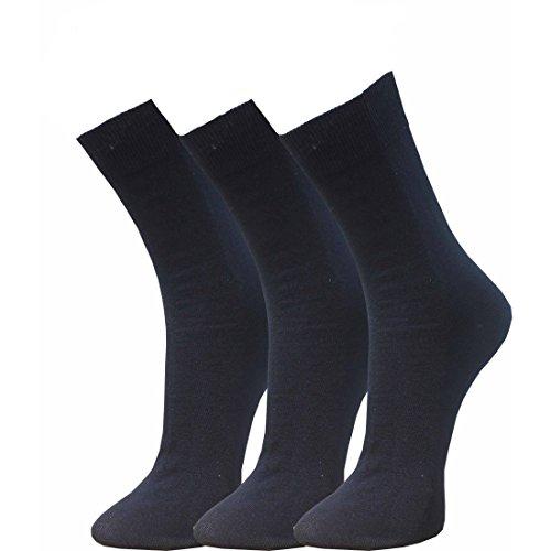Cotton Club Socken in XXL schwarz 51-54