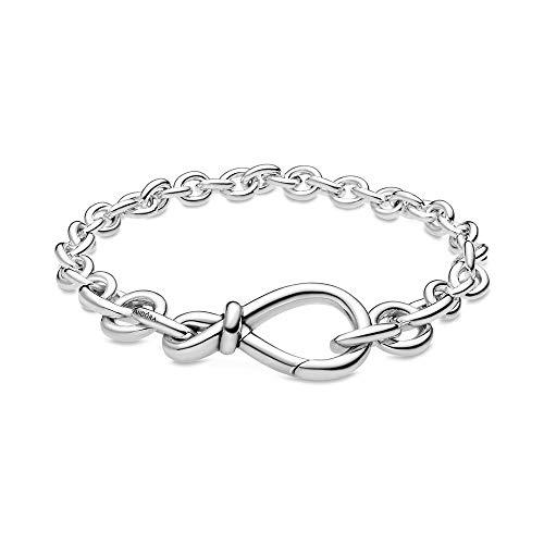 Pandora Silber Damen-Armband Unendlichkeits-Knoten 598911C00, 16cm