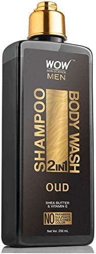 Glamorous Hub WOW Oud 2 en 1 Champú + Gel de Baño Sin Parabenos Sulfatos Siliconas y Color 250 ml (El Embalaje Puede Variar)