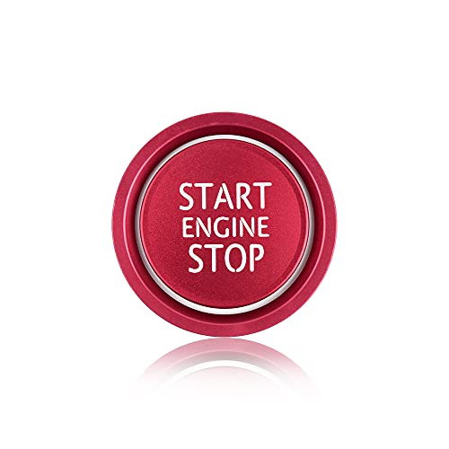 BLINGOOSE Car Engine Start Stop Button Cover Ring Ignition Start Stop Button Trim Push Button Switch Decor Stickers Lega di Alluminio Accessori Interni per Auto Compatibile per Audi A4 A5 A6 A7 A8 Q5