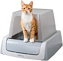 PetSafe ScoopFree Ultra Automatic Self Cleaning Hooded Cat Litter Box – Includes Disposable Trays with Crystal Litter...