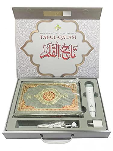 Quran Pen : Digital Quran 16 Line Digital Quran Pen Reader Colour Coded Translated Quran with Pen - Grey Edition