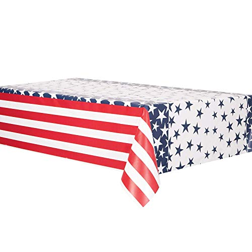 Party accessoires in het patroon van de Amerikaanse vlag Plastic tafelkleed.