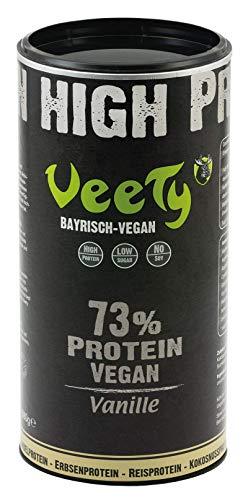 Veety Protein Shake, The 4in1 Mix - Vanilla   Rice Protein, Pea Protein, Almond Protein, Coconut Protein   Soy-Free   1x 580g