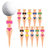 Gitua 20 tees de golf divertidos para mujer, de plástico, pin-up, para todos los niveles de golf, entrenamiento de golf (78 mm, 5 colores)