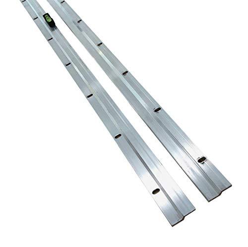 Barra para fotos y espejos resistente, 1 m, 1000 mm, fácil nivel + fijaciones.