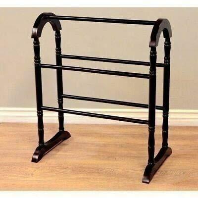 Buy Discount AK Energy 5 Bar Espresso Finish Wooden Quilt Rack Blanket Stand Storage Display Bedding...