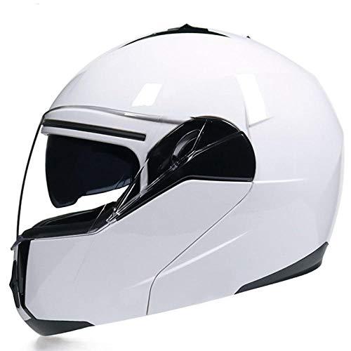 Dubbele lens elektrische motorfietskop zonwering vier seizoenen universele halve helm, half bedekte open helm