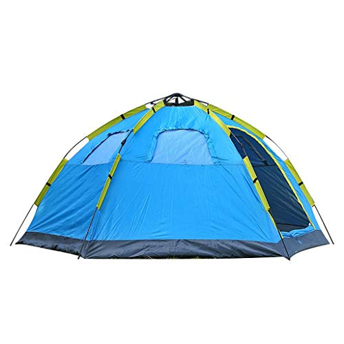 WEN 4-6 Personen Automatische Reisezelt 2 Türen 4 Fenster Mongolische Jurte Markise Wasserdichter UV-Schutz Familienabend Camping Wandern Zelt