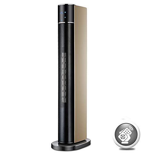 ZMJJ torenventilator, stil met afstandsbediening, torenventilator, statiefventilator, PTC-keramische verwarmingselement, badkamer, energiebesparend, stil, interieur, 120 graden oscillatie
