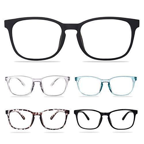 Reading Glasses 5-Pack Blue Light Blocking Reading Glasses for Women Men Anti Glare UV Filter...