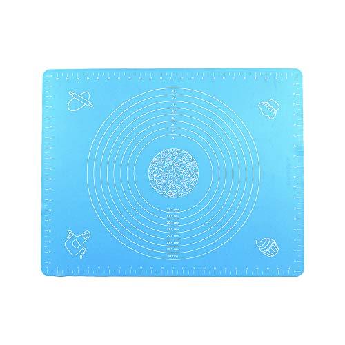 Berylx - Tappetino antiscivolo in silicone per pasticceria, antiaderente, tappetino da forno in silicone con gradazione, da utilizzare per prodotti di pasticceria o come piano di lavoro blu cielo