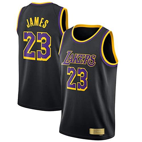 XGYD # 23 James Basketball Jersey, James Hombre Sin Mangas Camisetas Moda de Malla Transpirable APRENDIDO ADECUADOR para USADA DE Todos Black-XXL