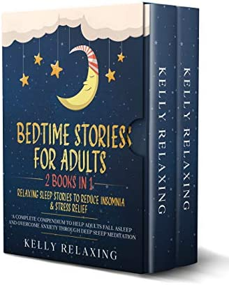 BEDTIME STORIES FOR ADULTS 2 BOOKS IN 1 RELAXING SLEEP STORIES TO REDUCE INSOMNIA STRESS RELIEF product image