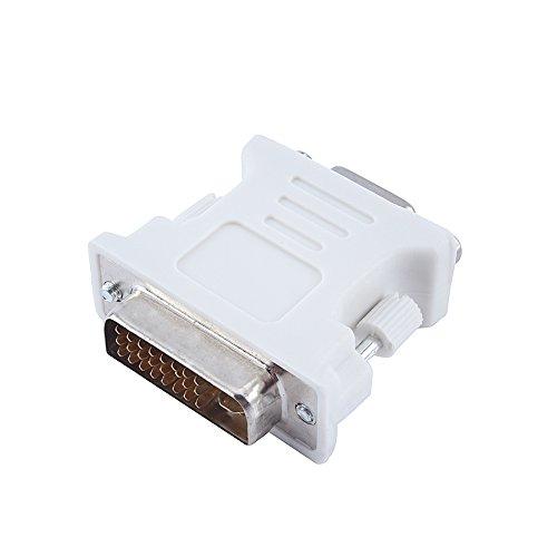 SALALIS Adaptador DVI Macho a VGA Hembra, Salida Digital Adaptador DVI-I a VGA Convertir a Conector VGA/Monitor/Instalación rápida y fácil para Monitor de computadora portátil