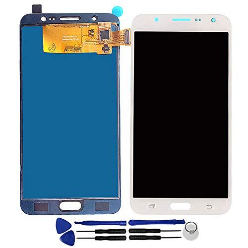 OYOG - Pantalla LCD de repuesto para Samsung Galaxy J7 2016 J710 J710F J710H J710FN (marco de bisel), color blanco