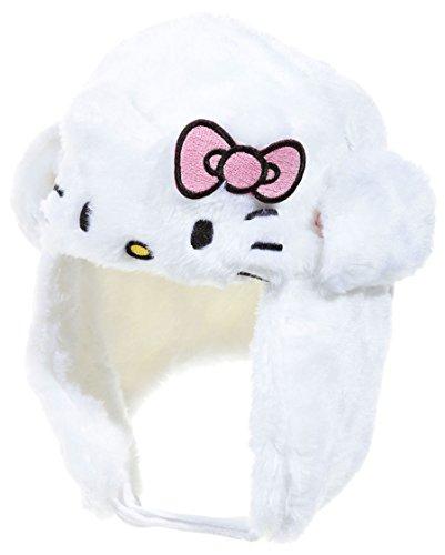 Tschapka Pelz Baby Kinder Mädchen Hello Kitty rosa und weiß von 9bis 36Monaten