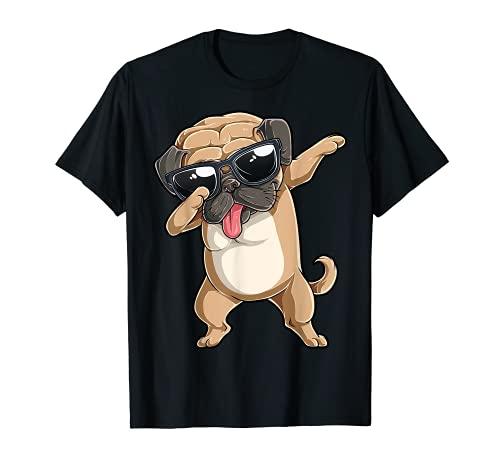 Dabbing Pug T shirt Dog Lover Kids Boys Girls Dab Dance Gift T-Shirt