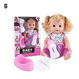 Kapokilly Simulation Weiche Puppe Set, Trinken Reden Puppe Spielzeug Geschenk Set Puppe Rollenspiel...