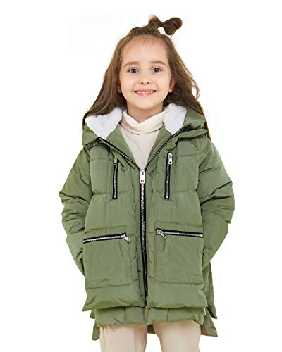 Orolay Children Hooded Down Coat Girls Quilted Puffer Jacket Boys Winter Jackets Green 150CM