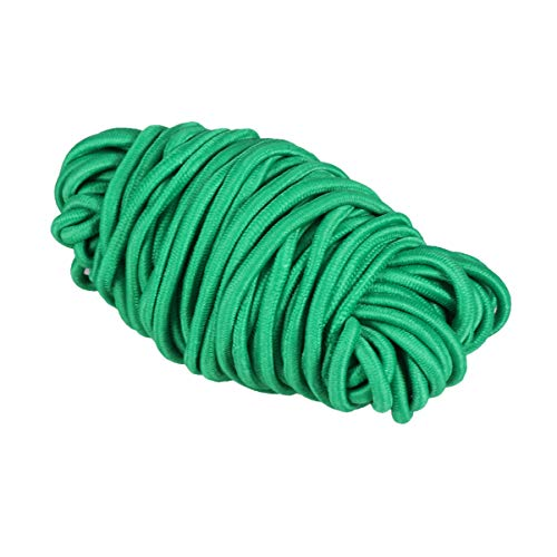 Milisten 1/8-Inch (3mm) Green Heavy Stretch Round String Elastic Cord for Jewelry Making,Crafts,Ties-10 Yards