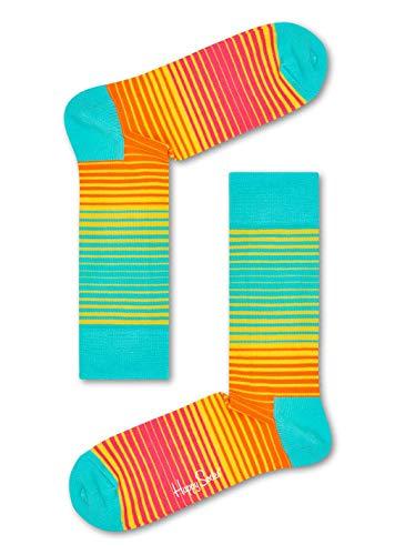 Happy Socks Damen Sunrise Socken, Mehrfarbig (Gelb 2000), 41-46