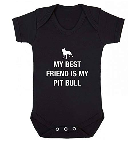 Flox Creative Baby Vest Best Friend Pit Bull - Noir - XS
