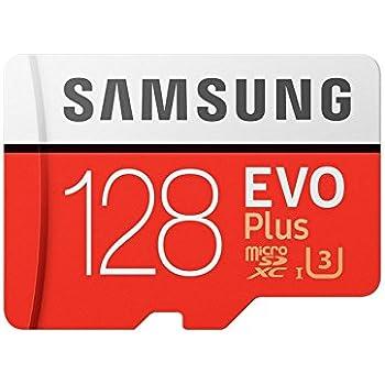 Samsung EVO Plus 128GB microSDXC UHS-I U3 100MB/s Full HD & 4K UHD Memory Card with Adapter (MB-MC128GA)
