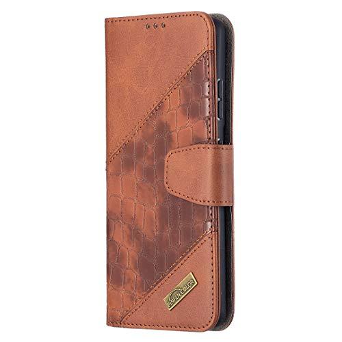 Hülle für Galaxy S21 Ultra Lederhülle Flip Tasche Klappbar Handyhülle mit [Kartenfächer] [Ständer Funktion], Cover Schutzhülle für Galaxy S21 Ultra - JEBF060325 Braun