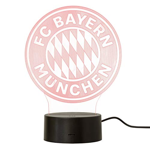 FC Bayern München LED Lampe Logo Nachtlicht, Leuchte FCB