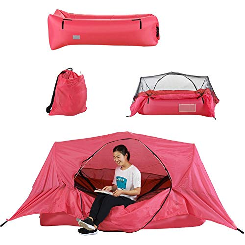 mementoy Camping Tent With Inflatable Air Bed And Mosquito Net No Need For Pump, 171x70x45cm