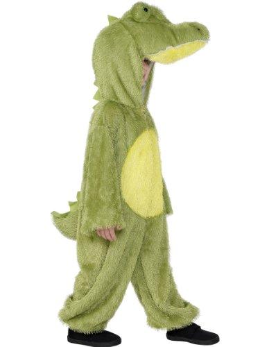 Smiffys Kinder Unisex Krokodil Kostüm, Jumpsuit mit Kapuze, Größe: S, 30777