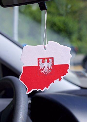 Duftbaum Lufterfrischer Flagge Polen piłka nożna für das Auto Geruch Duft New Car