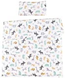 MEJU Elk Crocodile Elephant Giraffe Rabbit 100% Cotton Duvet Cover + Pillowcase Bedding Set with Zipper...