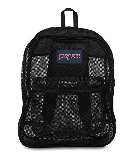 JanSport Unisex-Adult Mesh Pack, Black, One Size