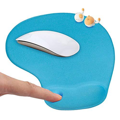 HOTSO Mauspad mit Silikon Gel Handauflage Komfortes Mauspad Ergonomisches Rutschfestes Gaming Mousepad mit Antisehnenscheidenprobleme für Computer Laptop PC - Blau