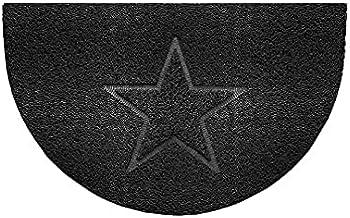 Nicoman Embossed Halfmoon Half Circle Door Mat Dirt-Trapper Jet-Washable Doormat 70x44cm (Black, Star Shape) - Use Outdoor...