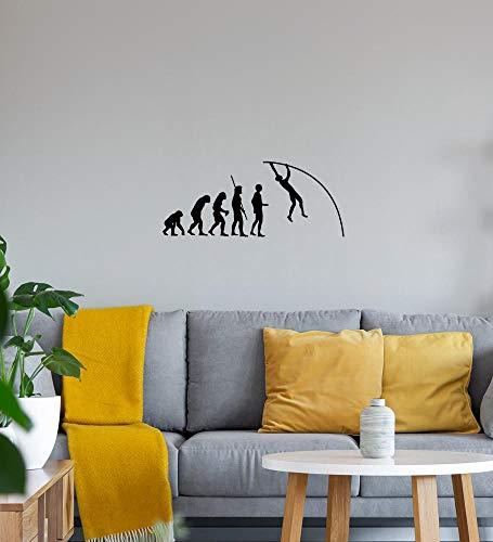 Shirt84.de - Adhesivo decorativo para pared (40 x 17 cm), diseño de evolución de un bastón