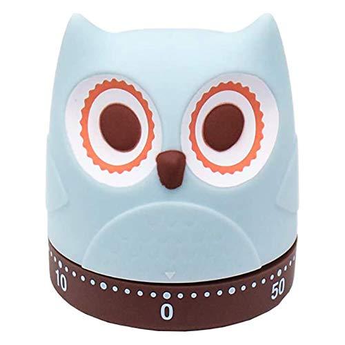 Temporizador de Cocina Temporizador Mecánico de 60 Minutos Temporizador de Diseño con Forma de Owl para Aprendizaje Hornear Ejercicios de Yoga (1 Paquete)