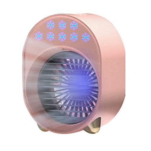 Heshan Refrigerador de aire acondicionado inalámbrico evaporativo portátil recargable potente | 3 velocidades uso en casa oficina