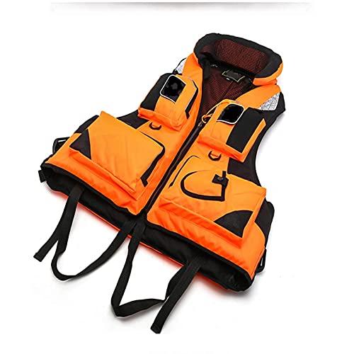 showyow Chaleco Salvavidas, Cremallera Frontal Chaleco de flotabilidad de Nailon Ayuda a la flotabilidad Canoa Kayak Bote Sup Chaqueta con esnórquel Natación Flotador Chaleco