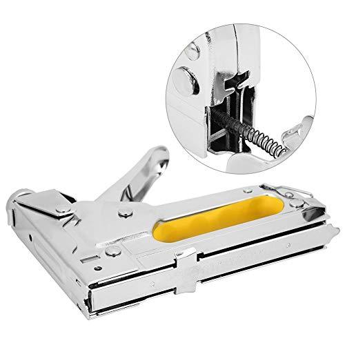 Oumefar Hardware-Zubehör Tacker-Rahmen-Hefter-Nagelwerkzeug Silber Manueller Nagler Einstellbare Wärmebehandlung für U-förmige Tür-T-Nägel