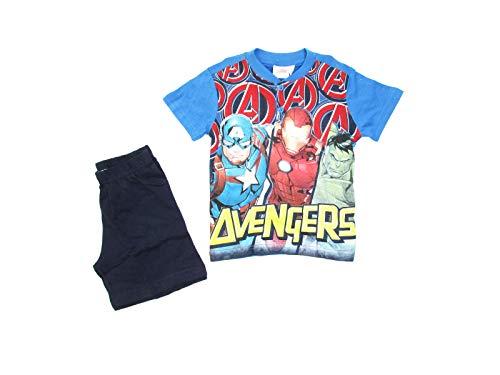 Marvel Pijama Infantil de Verano Avengers Corto de algodón, con impresión Frontal - Art. 46304