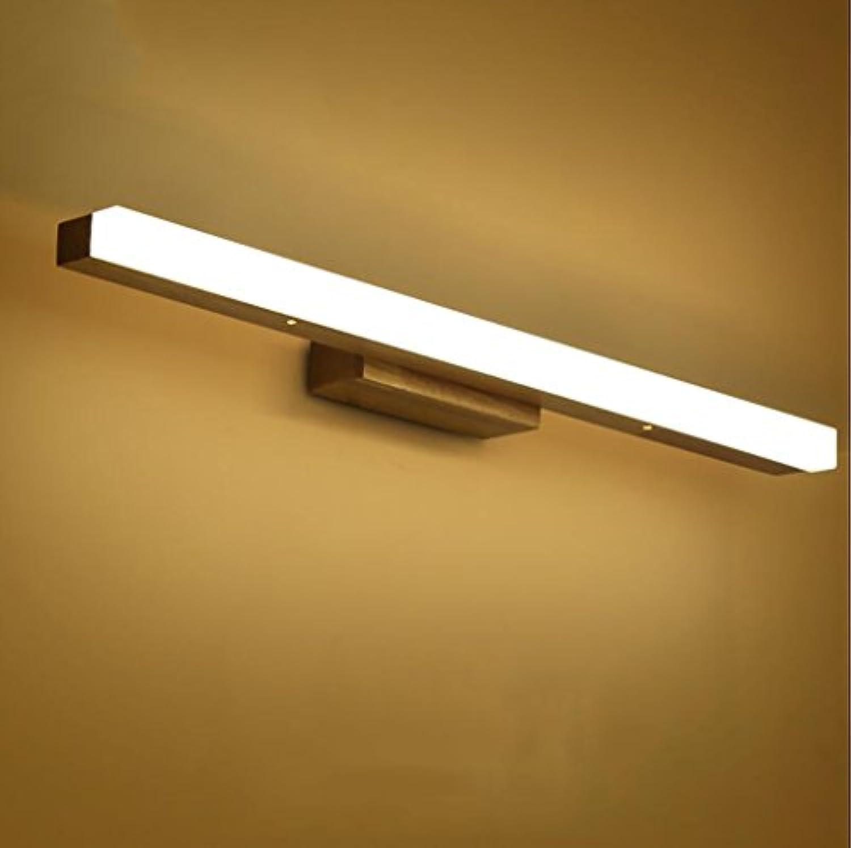 LED-Bad-Spiegelleuchte Spiegel vorne Licht Simple Modern Spiegel vorne Licht Wasserdicht Anti-Fog Badezimmer Badezimmer Spiegelleuchte (Warm Weiß) Spiegel Wandleuchte (Farbe   Warmes Licht-S)